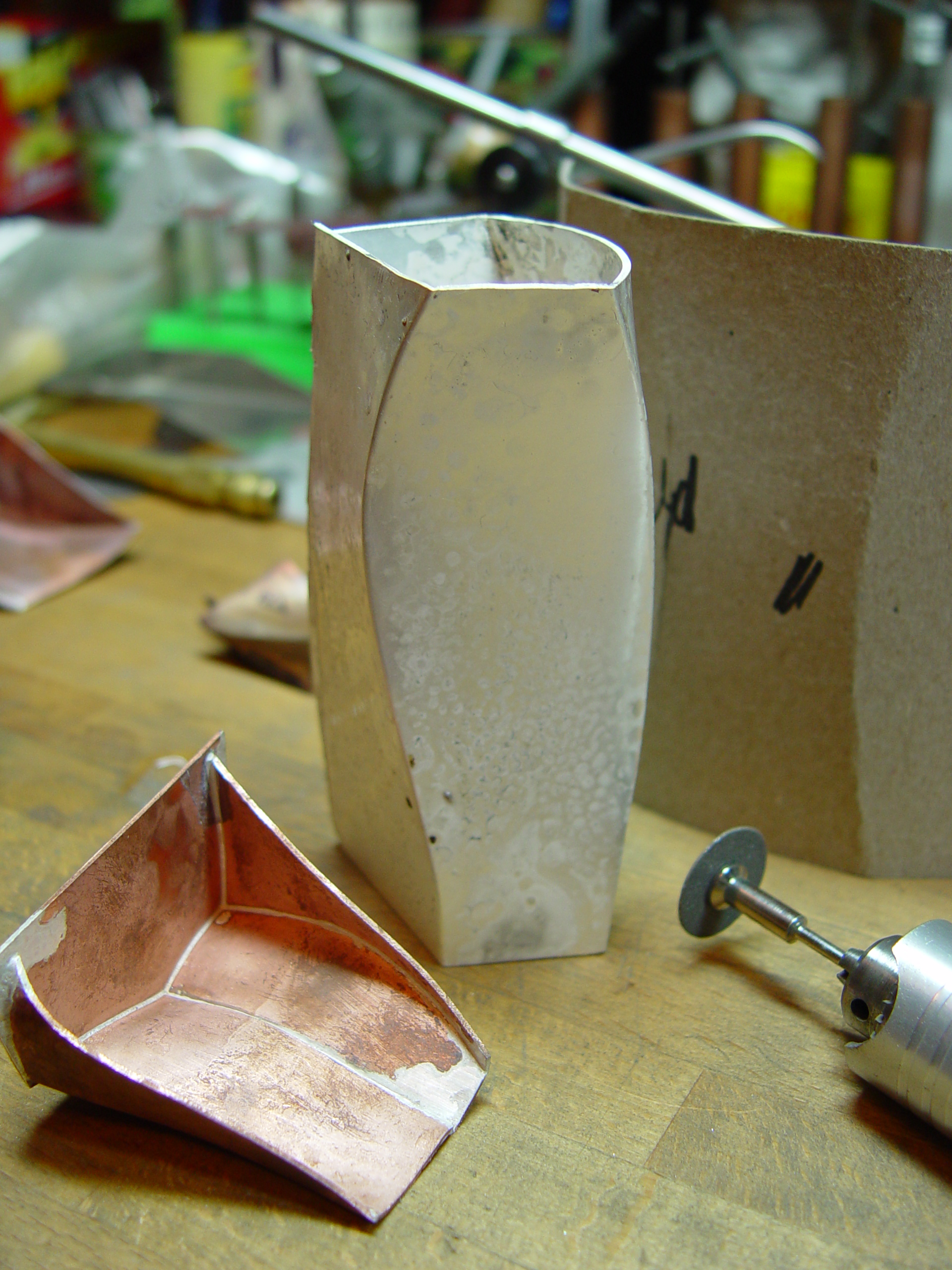Hollow forms on the bench