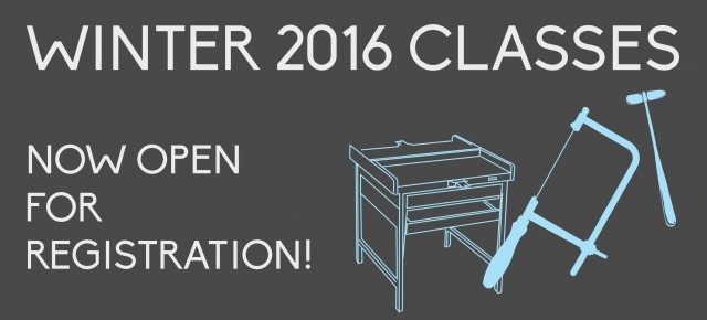 WINTER 2016 CLASSES | REGISTRATION OPEN